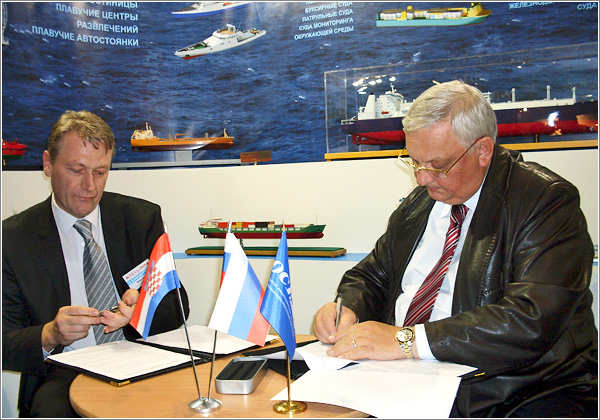 Состоялось подписание Меморандума о сотрудничестве между ОАО «ОСК» и АО «Хорватское судостроение Ядранброд»