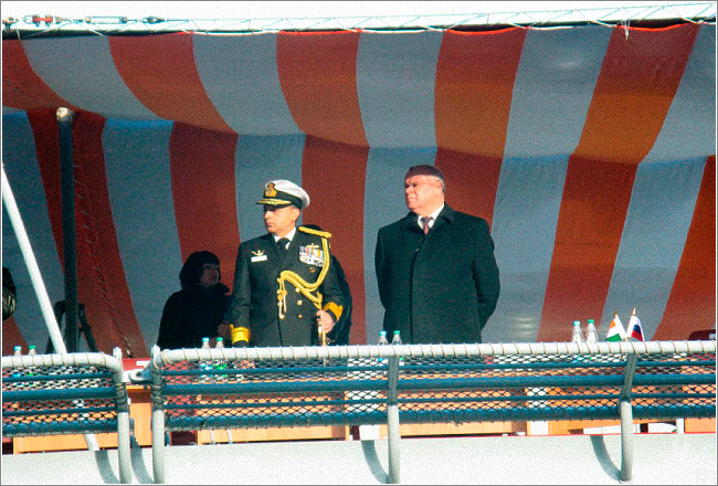 Состоялась очередная церемония передачи фрегата проекта 11356 ВМС Индии
