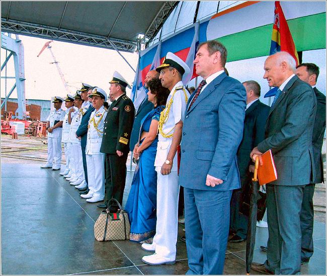 В Калининграде спущен на воду очередной фрегат для ВМС Индии