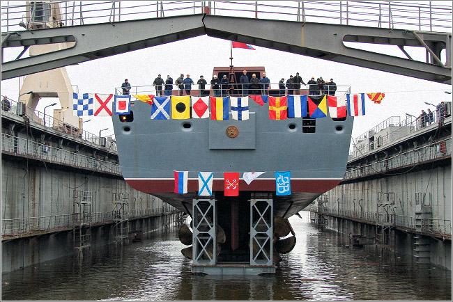 Спуск на воду головного корабля проекта 22350