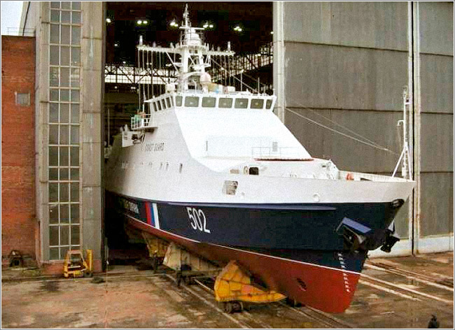 Состоялся спуск первого серийного патрульного корабля «Бриллиант»