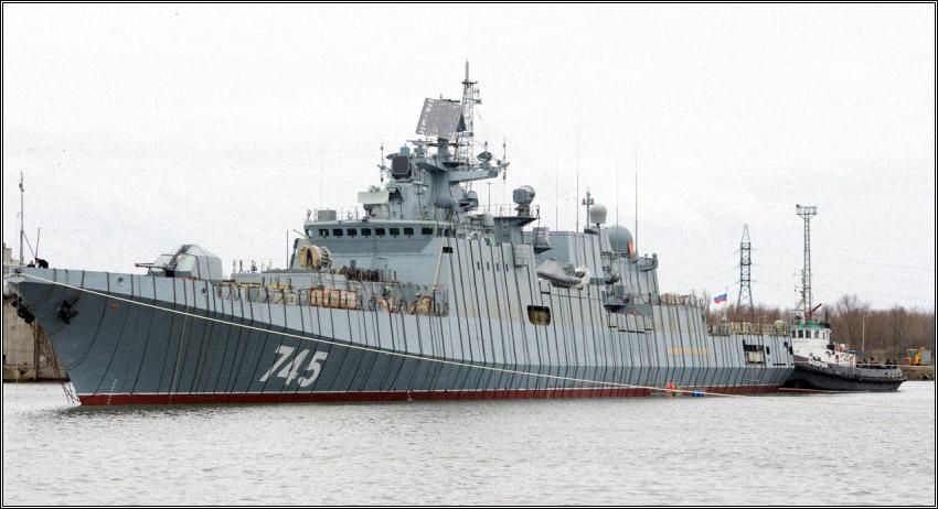 Фрегат «Адмирал Макаров» спущен на воду в Калининграде