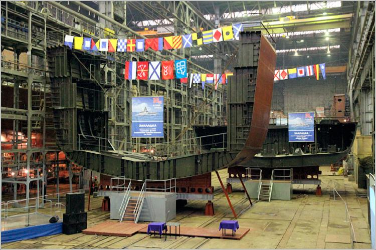 На «Северной верфи» состоялась закладка фрегата «Адмирал Флота Советского Союза Исаков»