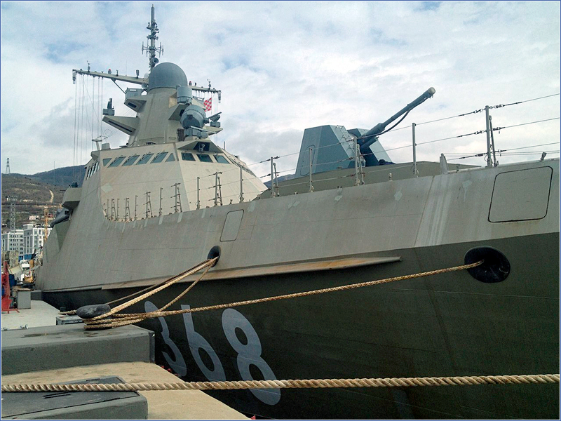 Поднят флаг на первом корабле проекта 22160