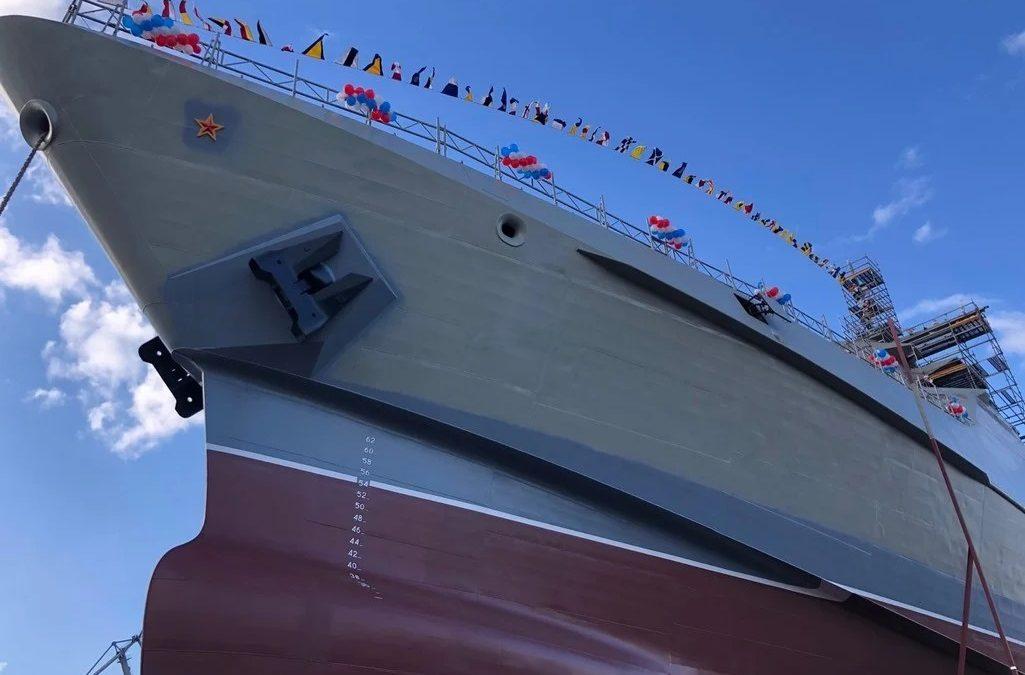 Спущен на воду четвертый патрульный корабль проекта 22160 «Сергей Котов»